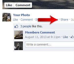 Share Facebook task