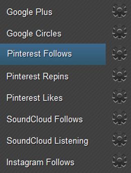 Earn Pinterest Follows Page