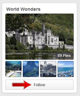 Follow the Pinterest Profile