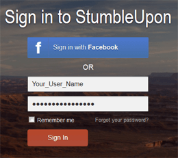 Stumbleupon Profile Login