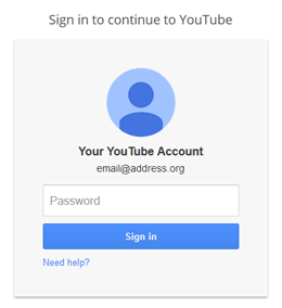 YouTube User/Channel Login