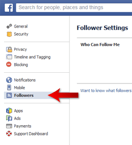 Facebook Follow Privileges 2