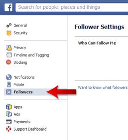 Facebook Follow Privileges 2
