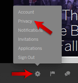 Click On the Settings Button
